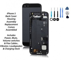 Back Cover Housing Assembly with Middle Frame Bezel and Small Parts for iPhone 5