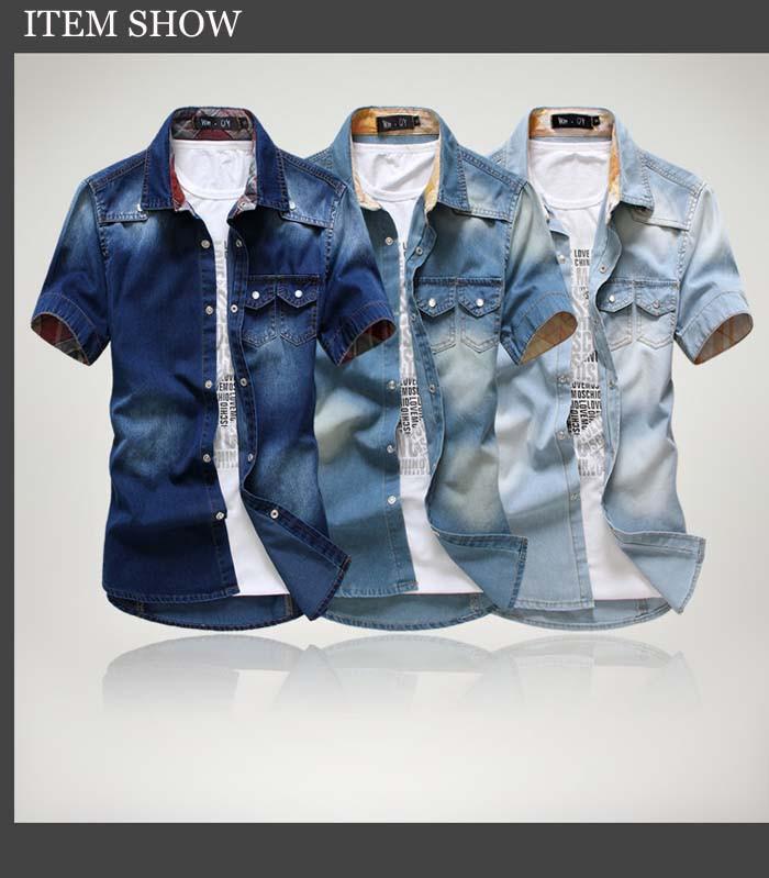 men short sleeve shirt big size