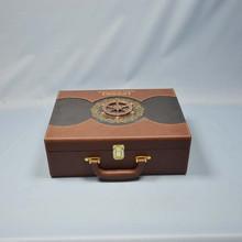 Hot sale custom logo printed Wine box(wood box,packing box,PU box) CDH2224