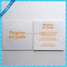 600gsm cotton paper debossed business card printing with color edge
