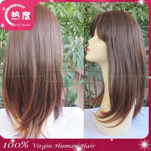 Delicate Newest Fashion Women Ladies for Salon Short brown cosplay Wig