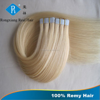 Cheap Wholesale 100% Remy Blond Virgin human hair extensions tape in
