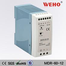 Mini dinrail 15v dc led driver power supply