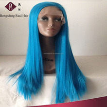 Cheap Wholesale Factory Price Heat Resistant Synthetic Hair Long blue wig