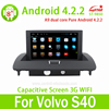 8inch Touch Screen Android 4.2 Car Radio For Volvo S40 GPS Navigation Hot Selling