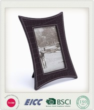 2015 May new coming photo frame BSCI factory, unique design home decoration handmade felt leather photo frame made in China