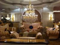 Luxury genuine leather sofa set, Neoclassic sofa set for living room(BF01-02070)