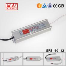 CE IP67 LPV-60 12vdc 24vdc 36vdc 48vdc waterproof led power supply 60w