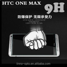 Anti shatter Tempered Glass high function Screen Protector for HTC ONE MAX/Factory price (0.2mm,0.3mm,0.4mm glass film)