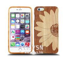 Hot Selling Wood Case For Iphone With A Picture Of Daisy
