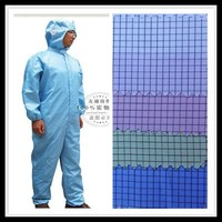 stock lot 100% super poly grid antistatic Eco-Friendly fabric