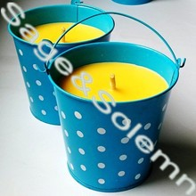 decorative citronella candle, Outdoor Garden Citronella Bucket Filled Candle