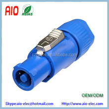 Blue Locking 3 Pole PowerCON male plug Power Connector for 20A Power In