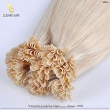 Factory Wholesale Italian Keratin 0.8g 1g 2g U/nail tip single drawn remy human hair extensions