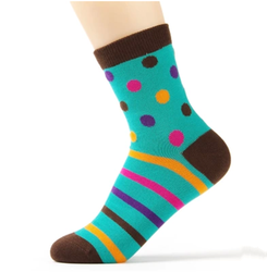 WSP-903 New Design Dots and Stripes Vivid Color Women Socks Cotton Socks From China Manufacturer