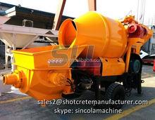 High efficiency concrete pump mixer truck