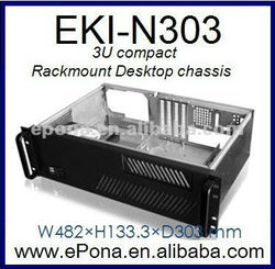 3U Compact Server case, Rackmount Chassis, industrial PC case EKI-N303