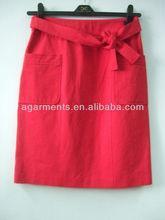 damas de algodón de nylon larga llanura faldas