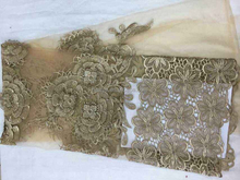 African Lace Fabrics For Garment French stones Net Lace Wedding Dress Fabric embroidery french lace FRH38-11