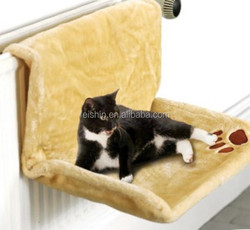 washable fabric and metal material cat radiator bed
