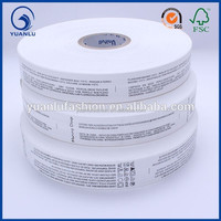 100 polyester care label for leather bags