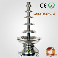 CHOCOLAZI ANT-8110 304# Stainless steel Best Commercial Chocolate Fountain