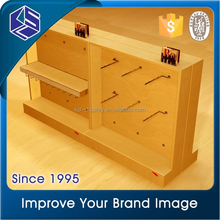 2015 Fashion New arrival laminate clothing island display rack MDF painting or spraying