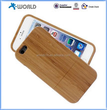 Real bamboo or wood protective new environmental phone case for iphone 6