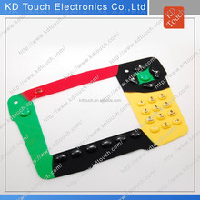 Silicone Rubber keyboard for Industry Control with Hard Coating