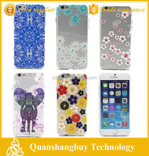 "6g case new arrival hand drawing relief floral bling back cover for iphone 6 6g 4.7"" skin shell"