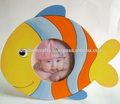 Peixes dos desenhos animados frame, crianças dos desenhos animados frame, bebê de madeira photo frame, quadro de imagem