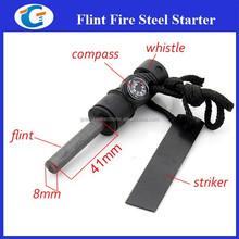 US Camping Magnesium Flint Striker Stone Fire Starter Lighter Survival Kit New