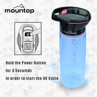 750ml promotional bpa free sports UV bicycle water bottle