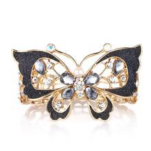 Fashion design butterfly charm bracelet,wholesale gold cuff bracelet bangle