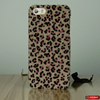 PC case decorated with leopard alike fur phone accessories for iphone samsung