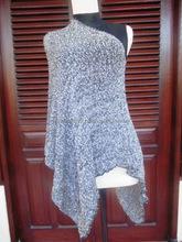 New Bi-Color Knit Shawl, strech, Multifunction