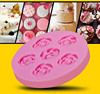 6pcs rose flower,silicone fondant mold,liquid silicone rubber to make mold