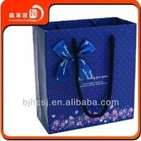 custom printing luxury paper shopping bag