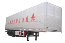 China brand 3 axle wing open van transport semi trailer , wing truck trailer