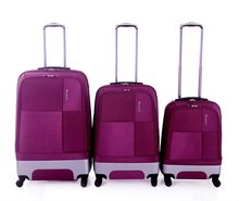 2012 colorful 3 pieces hardside spinner luggage