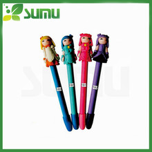 cartoon shape lovely polymer clay ball pen