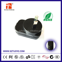 China Manufacturer usb power adapter 5v 1a au wall plug c-tick approved