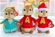 Cute stuffed plush toy Alvin and the Chipmunks plush toy squirrel