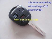FCC:HYQ12 Toyota 3 button remote key without logo (315 mhz/TOY48)