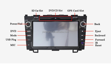 "8""Car audio for Honda CRV GPS SatNav DVD Player Bluetooth,Touch Screen,IPOD,WIFI,3G,RDS,Bluetooth, Steering Wheel Control,USB/SD"