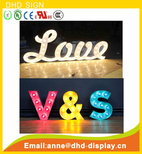 2015 modified led outdoor advertising letters alphabet,magnetic waterproof metal led letters with high quality stainless steel