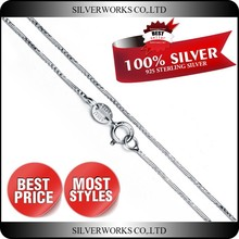 Factory Wholesale 16 inches Snake Shaped 925 Silver Chain
