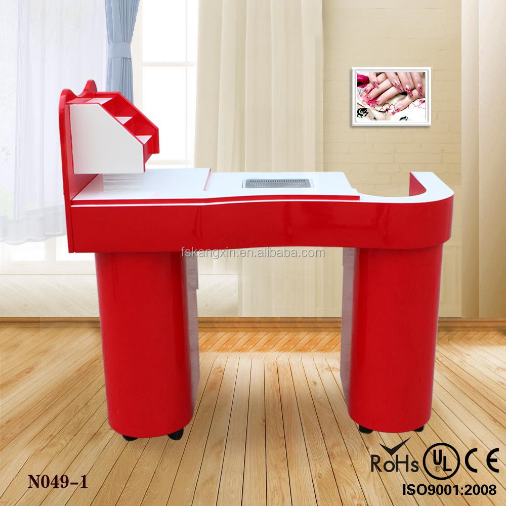 Aparador Vermelho Laqueado ~ Dupla do sal u00e3o de beleza tabela manicure n331 2 Mesas de