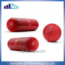 2014 New Best Outdoor Wireless Pills design Bluetooth Speaker with USB and Led Light Speaker