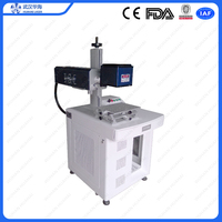 Huahai fiber laser 3d laser printer for stainless steel metal plate aluminum silver gold fiber laser marking machine price